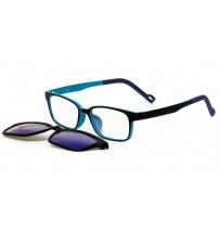 brýle se slunečním klipem KT1301 c2 blue zrcadlové
