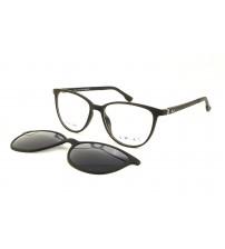 brýle se slunečním klipem Kwiat 2026b černá