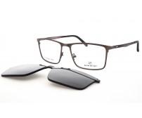 pánské kovové brýle se slunečním klipem OZZIE 5978C nepolarizační