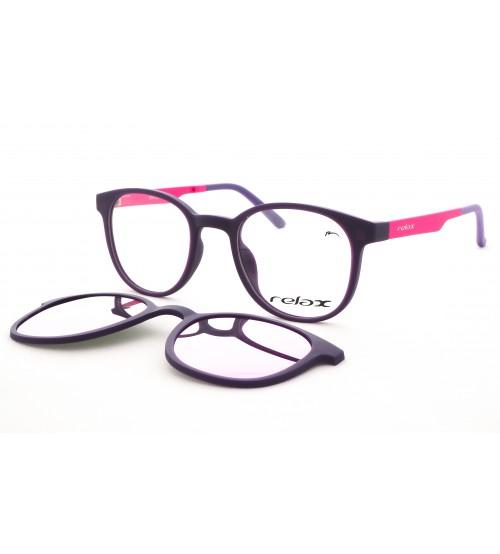 Dětské Plastové Brýle Se Slunečním Klipem Polarizační RM122 C2 zrcadlové