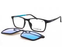 Dětské Plastové Brýle Se Slunečním Klipem Polarizační RM117 C3 zrcadlové