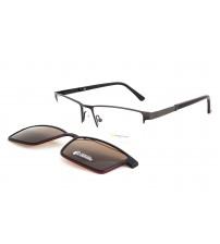 brýle se slunečním klipem Point 6083 c1 šedá