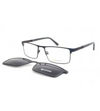 pánské brýle se slunečním klipem Point 6074 c2
