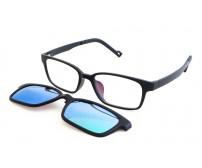 dioptrické brýle se slunečním klipem KT 1301 c1  se zeleným zrcadlovým klipem