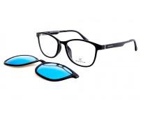 dioptrické brýle se slunečním klipem OZZIE OZ5916E zrcadlové