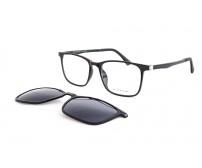 dioptrické brýle se slunečním klipem PG7232A černé