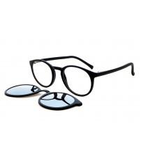 kulaté dioptrické brýle se slunečním klipem OU 85.277.02