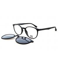 kulaté dioptrické brýle se slunečním klipem KT3978.01