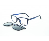 dioptrické brýle se slunečním klipem modré 90753