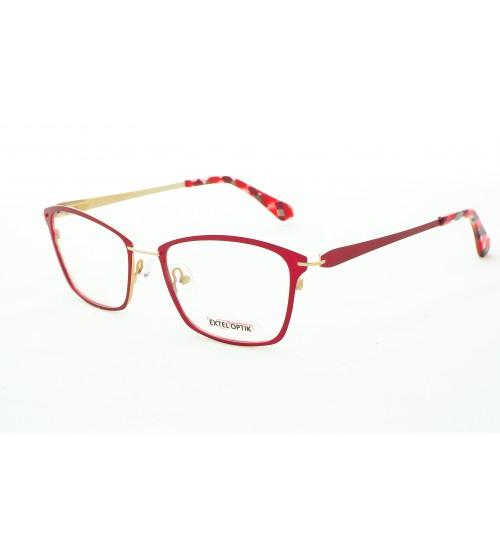 Dámské Červené Brýle Extel 9142 C3