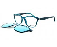 Dioptrické brýle se slunečním klipem centrostyle F014253249 zelené