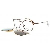 dioptrické brýle se slunečním klipem Charles stone NY 30037 c2 hnědá