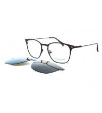 Dioptrické brýle se slunečním klipem Charles stone NY30038 c2 hnědá
