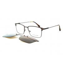Dioptrické brýle se slunečním klipem Charles stone NY30039 c2 hnědá