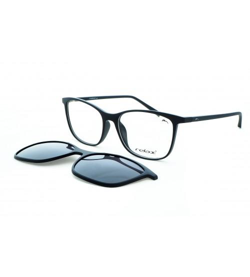 Dioptrické brýle se slunečním klipem Relax RM120 C3