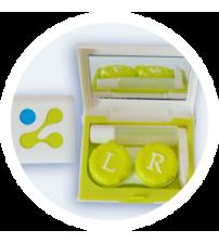 cestovní sada na kontaktní čočky - zelená