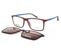 pánské hnědé Brýle Se Slunečním Klipem Point 6086 c1
