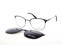 kovové brýle se slunečním klipem Point 6089 c2