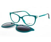 Centrostyle F0206 dámské menší vel.51 zelené brýle se slunečním klipem
