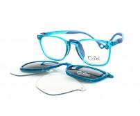 Cooline 19990 c3 modré dětské brýle se slunečním klipem a klipem proti modrému světlu