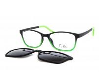Cooline 133 dětské brýle se slunečním klipem zelené