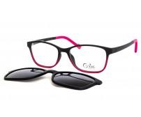 Cooline 133 dětské brýle se slunečním klipem růžové