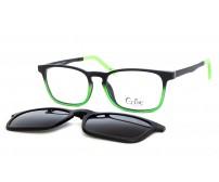 Cooline 132 junior brýle se slunečním klipem zelené