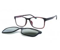 TJ 003 c3 hnědé brýle se slunečním klipem