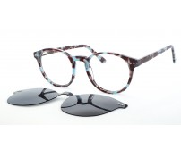 kulaté strakaté brýle z acetátu G5117 c5