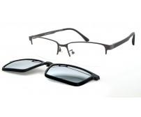 CRH 0-215633 pánské šedé brýle s horní obroučkou a slunečním klipem