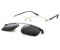 CRH 0-214341 elegantní zlaté brýle se slunečním klipem