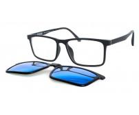 CRH 9-212418 pánské černé brýle se zrcadlovým slunečním klipem