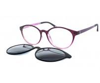 fialové brýle se slunečním klipem 2123 c023
