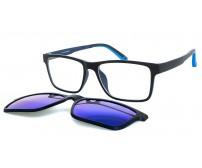 CRH 9-20888 pánské černé brýle s modrým zrcadlovým klipem