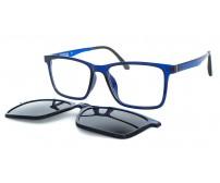 tmavě modré pánské brýle 2123 c5 se slunečním klipem