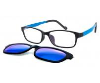 Úzké brýle KT1306 C2 se slunečním klipem