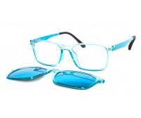 Junior modré brýle se slunečním zrcadlovým klipem TJ 2151 c4