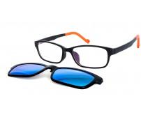Úzké brýle KT1306 C1 se slunečním klipem