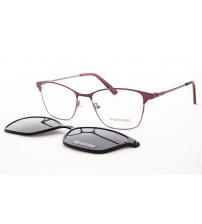 elegantní dámské brýle se slunečním klipem mondo 0567 c1 fialové