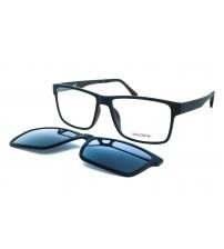 pánské černé brýle se slunečním klipem Ultem 112 c5