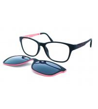 Dámské Dioptrické Brýle Se Slunečním Klipem Ultem J2511 C1 Černo-růžové