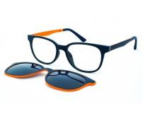 dětské dioptrické brýle se slunečním klipem ultem  908 c5 modro-oranžové