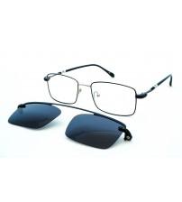 Pánské kovové brýle se slunečním klipem DC3043 c3