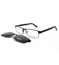 pánské brýle se slunečním klipem Point 6068 c1 černé
