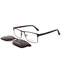 pánské brýle se slunečním klipem Point 6074 c1