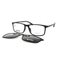 Pánské černé brýle se slunečním klipem Ultem 6057 C1