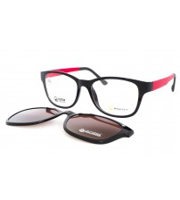 dámské brýle se slunečním klipem point 6059 c52 červené