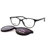 brýle pro vysoké dioptrie se slunečním klipem Point 6062 c81 černé