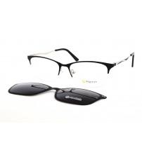 Dámské kovové brýle se slunečním Klipem Point 6091 c2 černá/stříbrná