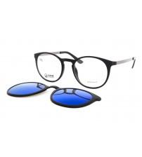 kulaté brýle Point 6070 c7 se slunečním zrcadlovým klipem